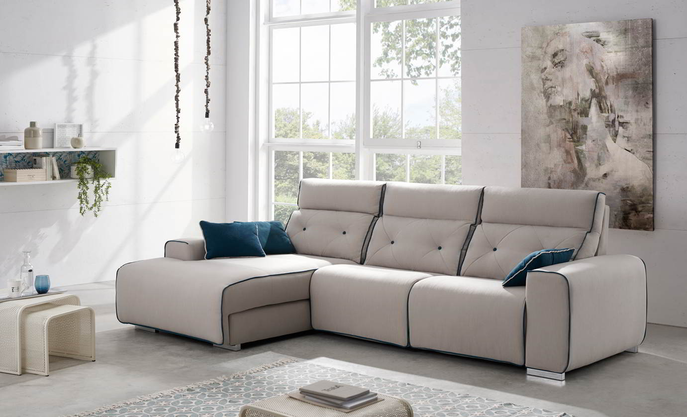 CONJUNTO SOFA NTV - ELECTRICO 2 ELECTRICO+ CHAISLONGUE